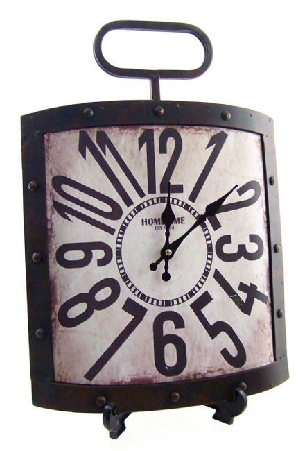 Arabic Dial Large Rustic Metal Shabby Chic Wall Clock